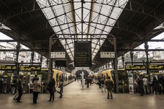 Oporto train station platforms Stock Photos