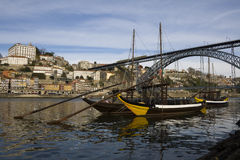 Oporto View with D. Luis Bridge Royalty Free Stock Photography