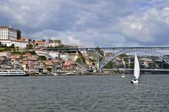 Oporto y el puente de Dom Luis foto de archivo libre de regalías