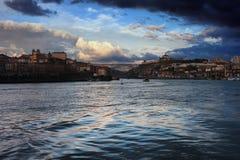 Oporto y Vila Nova de Gaia River View Fotografía de archivo libre de regalías