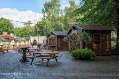 Oportunidad de comer y de beber en el parque temático de Efteling en la N Fotografía de archivo