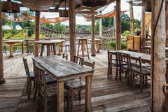 Oportunidad de comer y de beber en el parque temático de Efteling en la N Fotografía de archivo libre de regalías