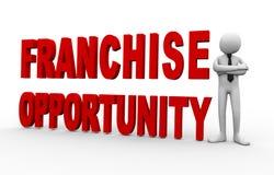 oportunidad de la licencia del hombre de negocios 3d Imagen de archivo libre de regalías
