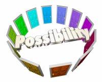 Oportunidad potencial futura del círculo de las puertas de la posibilidad stock de ilustración