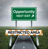 Oportunidad restricta ilustración del vector