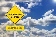 Oportunidad Roadsign Imagen de archivo libre de regalías