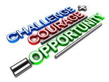 Oportunidade da coragem do desafio ilustração royalty free