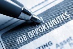 Oportunidade de trabalho Calssified Imagem de Stock