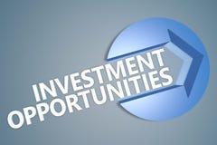 Oportunidades de investimento ilustração royalty free