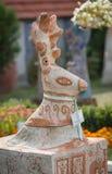 OPOSHNYA, UKRAINE-SEPTEMBER 21: Art exhibition of pottery on se Stock Images
