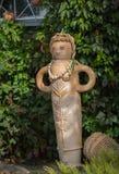OPOSHNYA, UKRAINE-SEPTEMBER 21: Art exhibition of pottery on se Royalty Free Stock Images