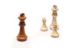 Oposição na xadrez Foto de Stock Royalty Free
