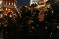Oposición ?día de la cólera? en Moscú imagenes de archivo