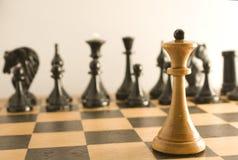 Oposición del ajedrez Fotos de archivo libres de regalías