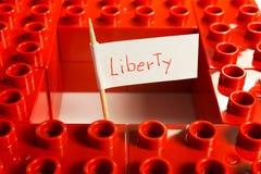 Oposición entre la libertad y la seguridad Imagen de archivo