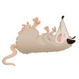 Opossum. Vector image of a cartoon deadlike Opossum Royalty Free Stock Photos