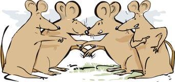 Opowiadać myszy Wita Each Inny royalty ilustracja