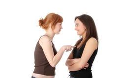 opowiadający młodego dwa womans Fotografia Royalty Free