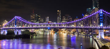 Opowieść most na nowy rok wigilii 2016 w Brisbane Fotografia Royalty Free