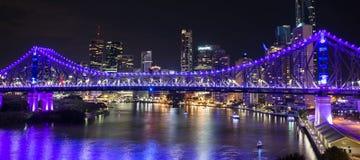 Opowieść most na nowy rok wigilii 2016 w Brisbane Obrazy Royalty Free