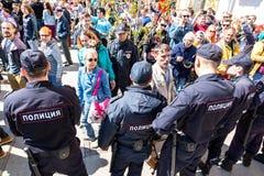 Opozycja protesta wiec naprzeciw prezydenta Vladimir Putinowskiej inauguracyjnej ceremonii obrazy stock