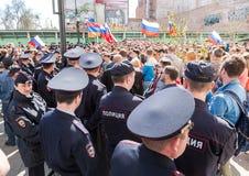 Opozycja protesta wiec naprzeciw prezydenta Vladimir ` s Putinowskiego ina obraz royalty free