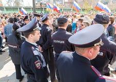 Opozycja protesta wiec naprzeciw prezydenta Vladimir ` s Putinowskiego ina fotografia stock