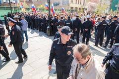 Opozycja protesta wiec naprzeciw prezydenta Vladimir ` s Putinowskiego ina obrazy stock