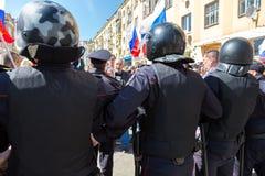 Opozycja protesta wiec naprzeciw prezydenta Vladimir ` s Putinowskiego ina zdjęcia stock