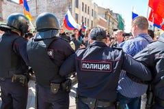 Opozycja protesta wiec naprzeciw prezydenta Vladimir ` s Putinowskiego ina zdjęcie stock