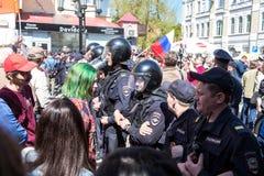 Opozycja protesta wiec naprzeciw prezydenta Vladimir ` s Putinowskiego ina obraz stock