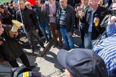 Opozycja protesta wiec naprzeciw prezydenta Vladimir ` s Putinowskiego ina fotografia royalty free