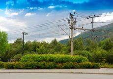Oppdal train communications background. Hd Royalty Free Stock Photography