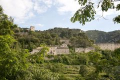 Oppede-le-Vieux il vecchio villaggio Fotografia Stock