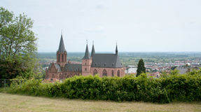 Oppenheim. With Katharinenkirche in the Mainz-Bingen district of Rhineland-Palatinate in Germany royalty free stock image