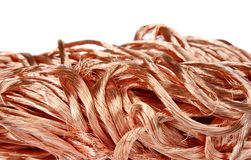 Copper wire. Big pile of copper wire Royalty Free Stock Photo