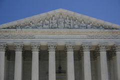 Opperst hof: gelijke rechtvaardigheid in het kader van wet royalty-vrije stock foto's