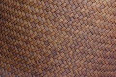 Oppervlakte van bruine mandenmakerij voor achtergrond stock afbeelding