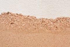 Oppervlakte van ciment en houtvezelplaat van bagasse stock afbeelding