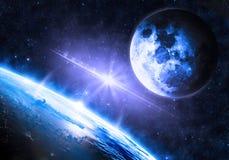 Oppervlakte van de Aarde Stock Foto