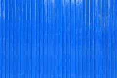 Oppervlakte van de blauwe achtergrond van de zinkmuur Stock Afbeeldingen