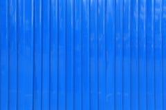 Oppervlakte van de blauwe achtergrond van de zinkmuur Royalty-vrije Stock Foto's