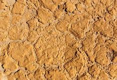 Oppervlakte van droge klei Stock Afbeeldingen