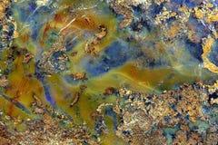 Oppervlakte van een opalen ader stock fotografie