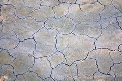 Oppervlakte van gebarsten grond Stock Afbeeldingen