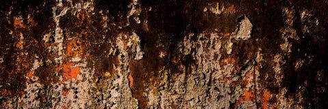 Oppervlakte van het oude bladmetaal dat met corrosie en roest wordt behandeld royalty-vrije stock fotografie