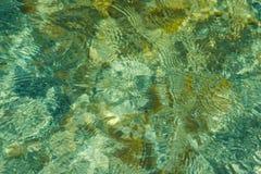 Oppervlakte van het overzees met een bezinning Abstractie royalty-vrije stock afbeelding