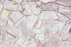 Oppervlakte van muur met roze granietsteen Stock Afbeelding
