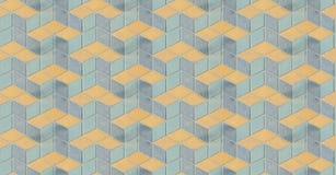 Oppervlakte van Oude Gepleisterde Vloer met Kleurrijke Blauwe Gele Geometrische Architectuur Symmetrische Ruit of Luier Herhaald  royalty-vrije stock afbeeldingen