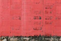 oppervlakte van Rood oud doorstaan beton Stock Fotografie